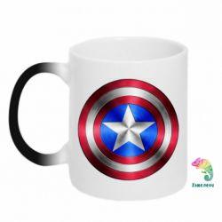 Кружка-хамелеон Щит Капитана Америка - FatLine