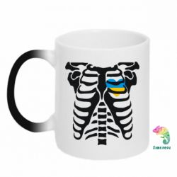 Кружка-хамелеон Скелет з сердцем Україна - FatLine