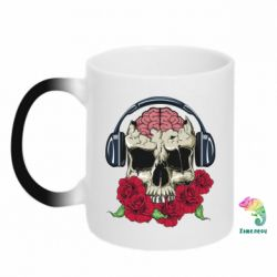 Кружка-хамелеон Skull and roses - FatLine