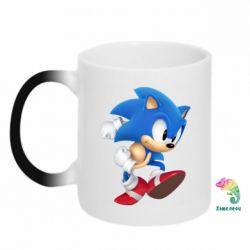 Кружка-хамелеон Sonic 3d - FatLine