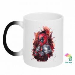 Кружка-хамелеон Стесняшка Deadpool