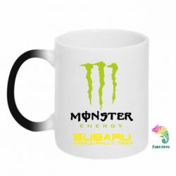 Кружка-хамелеон Subaru Monster Energy