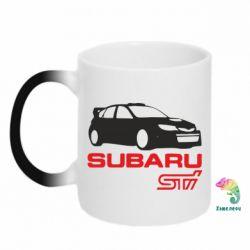 Кружка-хамелеон Subaru STI - FatLine