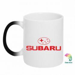 Кружка-хамелеон Subaru