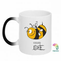 Кружка-хамелеон Сумасшедшая пчелка - FatLine