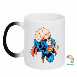 Кружка-хамелеон Супермен Комикс - FatLine