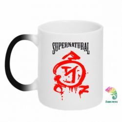 Кружка-хамелеон Supernatural Logo - FatLine