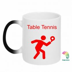 Кружка-хамелеон Table Tennis