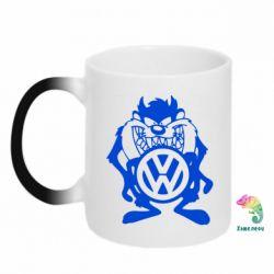 Кружка-хамелеон Тасманский дьявол Volkswagen - FatLine