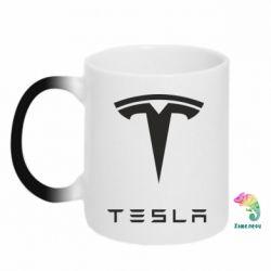 Кружка-хамелеон Tesla Logo