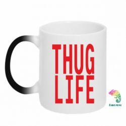 Кружка-хамелеон thug life - FatLine