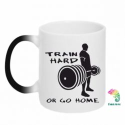 Кружка-хамелеон Train Hard or Go Home