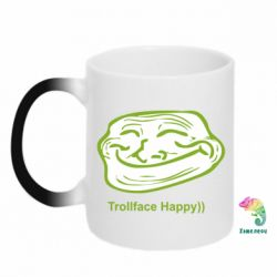 Кружка-хамелеон Trollface happy