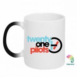 Кружка-хамелеон Twenty One Pilots Logo