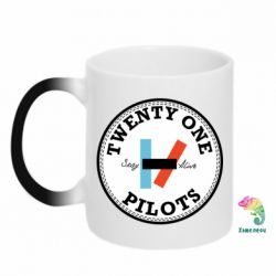 Кружка-хамелеон Twenty One Pilots Stay Alive