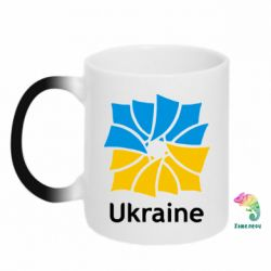 Кружка-хамелеон Ukraine квадратний прапор