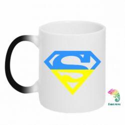 Кружка-хамелеон Український Superman - FatLine