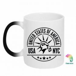 Кружка-хамелеон USA NYC - FatLine