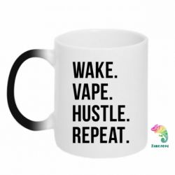 Кружка-хамелеон Wake.Vape.Hustle.Repeat. - FatLine
