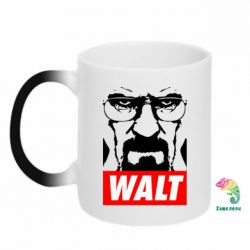 Кружка-хамелеон Walter White Obey