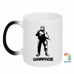 Кружка-хамелеон Warface - FatLine