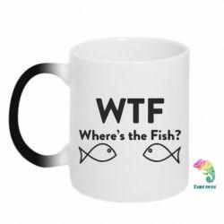 Кружка-хамелеон Where is The Fish
