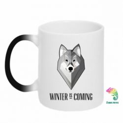 Кружка-хамелеон Winter is coming Wolf