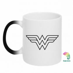 Кружка-хамелеон Wonder Woman Logo - FatLine