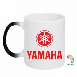 Кружка-хамелеон Yamaha Logo(R+W) - FatLine