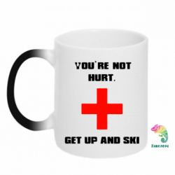 Кружка-хамелеон You're not hurt.Get up and ski - FatLine
