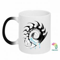 Кружка-хамелеон Zerg Symbol - FatLine