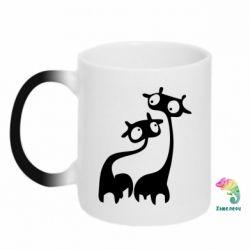 Кружка-хамелеон Жирафы - FatLine