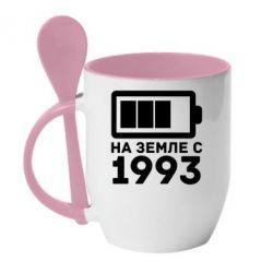 Кружка с керамической ложкой 1993 - FatLine