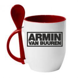 Кружка с керамической ложкой Armin - FatLine