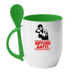 Кружка с керамической ложкой Arturo Gatti - FatLine