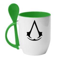 Кружка с керамической ложкой Assassin's Creed - FatLine