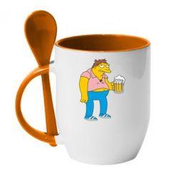 Кружка с керамической ложкой Барни Гамбл - FatLine