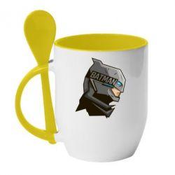 Кружка с керамической ложкой Batman Armoured - FatLine