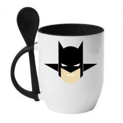 """Кружка с керамической ложкой Batman """"Minimalism"""" - FatLine"""