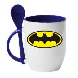 Кружка з керамічною ложкою Batman - FatLine