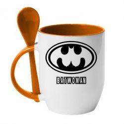 Кружка с керамической ложкой Batwoman - FatLine