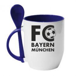 Кружка з керамічною ложкою Баварія Мюнхен