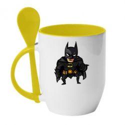 Кружка з керамічною ложкою Бетмен Арт