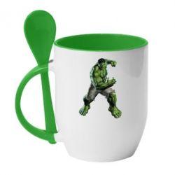 Кружка с керамической ложкой Big Hulk - FatLine
