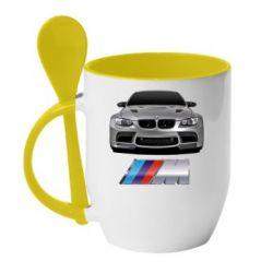 Кружка с керамической ложкой BMW M Power Car - FatLine