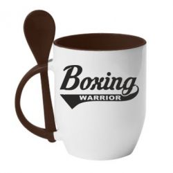 Кружка з керамічною ложкою Boxing Warrior