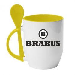 Кружка с керамической ложкой Brabus - FatLine