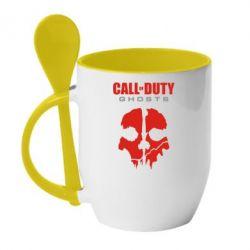 Кружка с керамической ложкой Call of Duty Ghosts - FatLine