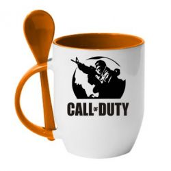 Кружка с керамической ложкой Call of Duty Logo - FatLine