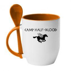 Кружка с керамической ложкой Camp half-blood - FatLine